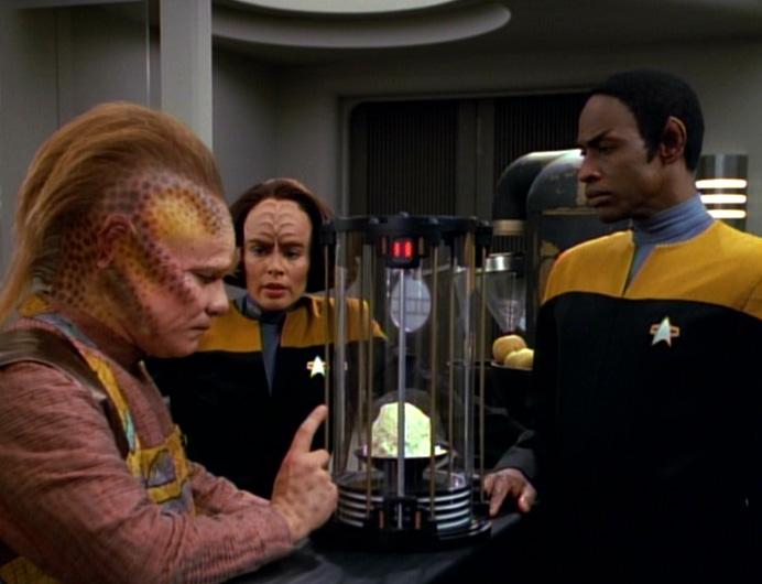 Neelix B'Elanna, Tuvok e o queijo,