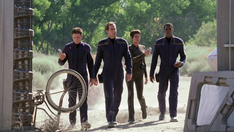 Reed, Archer, T'Pol e Mayweather em Terra Nova