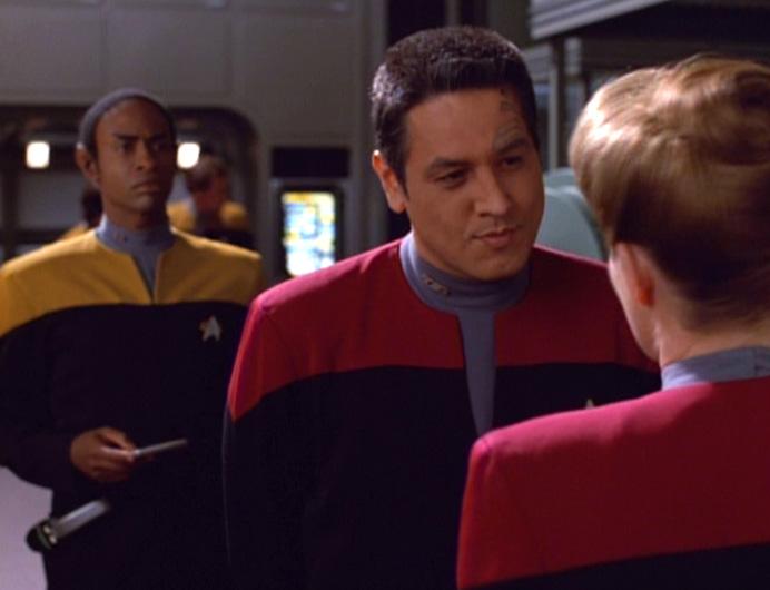 Tuvok, Chakotay e Janeway