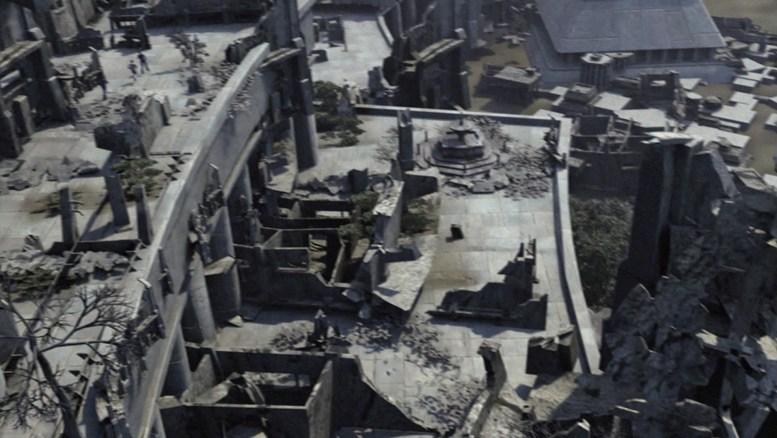Cidade de Urquat totalmente destruída