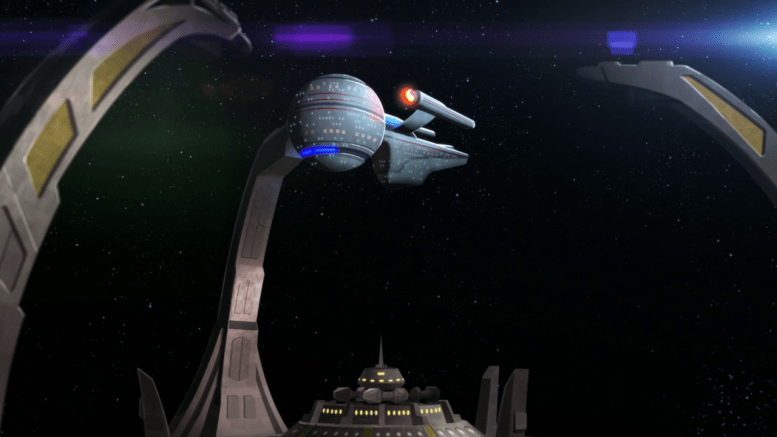USS Quito docada em Deep Space Nine