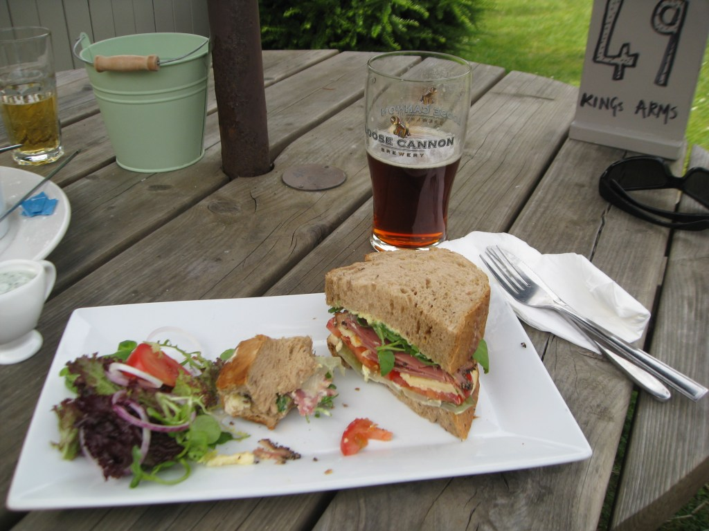 Late lunch at Kings Arms, Mickleton