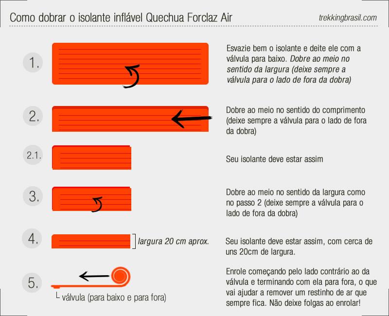 d9332ca55 Isolante inflável Forclaz Air Quechua • Trekking Brasil