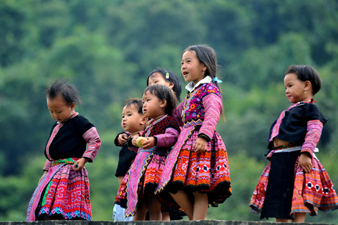 The ethnic children in Ta Van Village