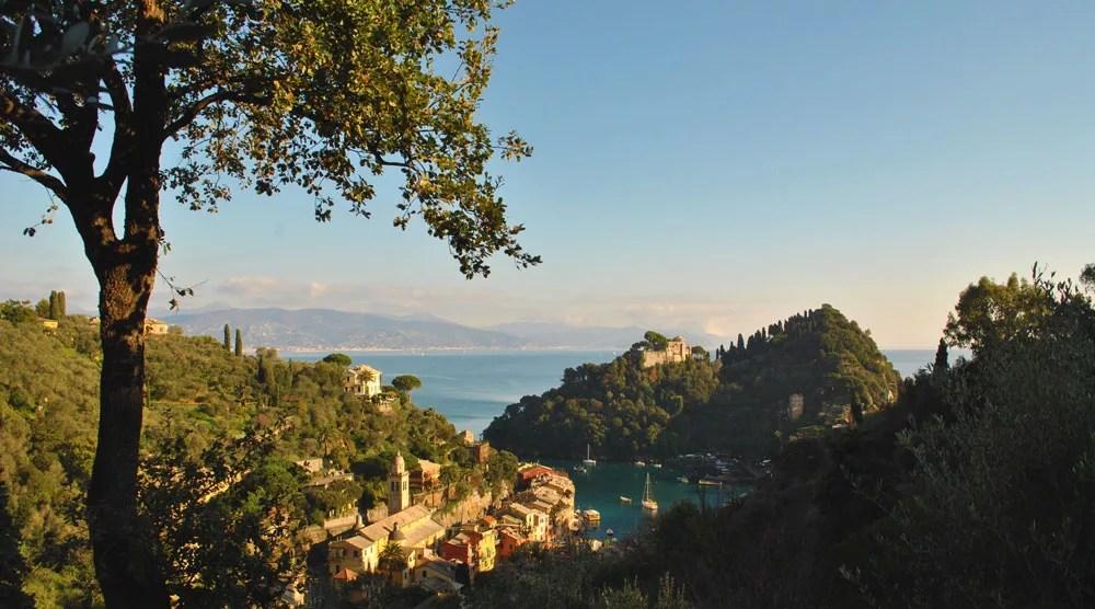 Portofino vista dal sentiero