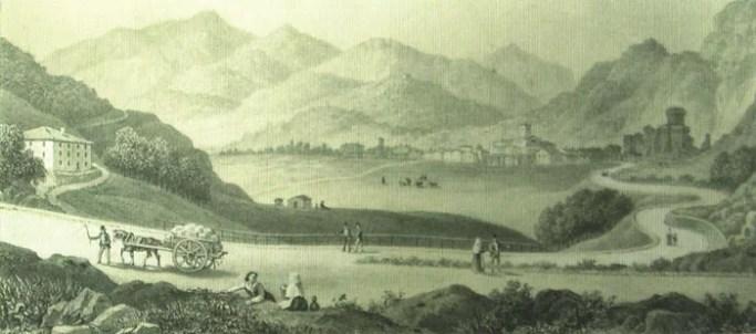 Strada della Cisa - Stampa ottocentesca
