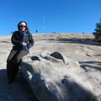 Kathy on Stone Mountain