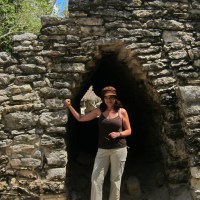 Kathy in a Coba Tunnel
