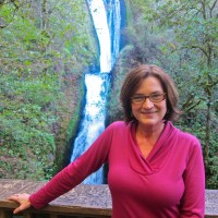 Kathy at Bridal Veil Falls