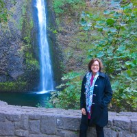 Kathy at Horsetail Falls