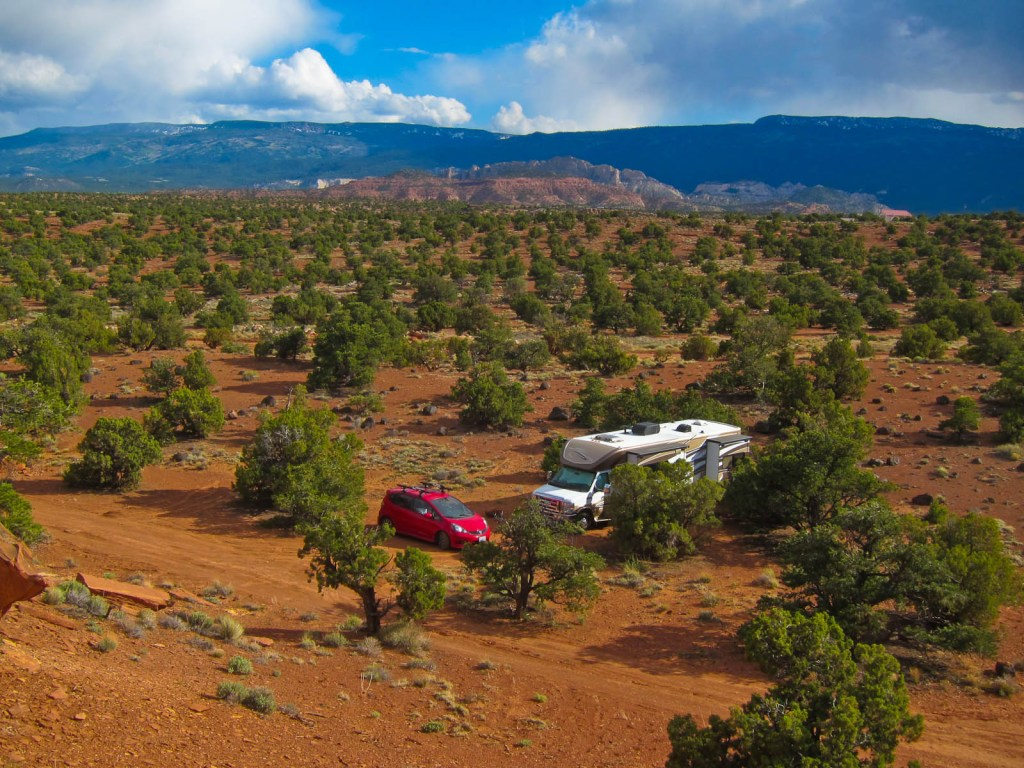 RV Boonocking Outside of Capitol Reef National Park