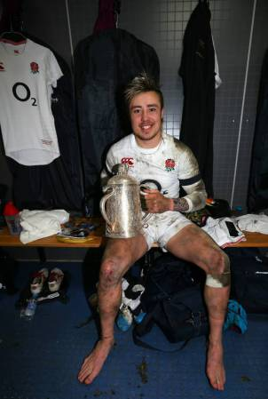 Jack Nowell with Calcutta Cup