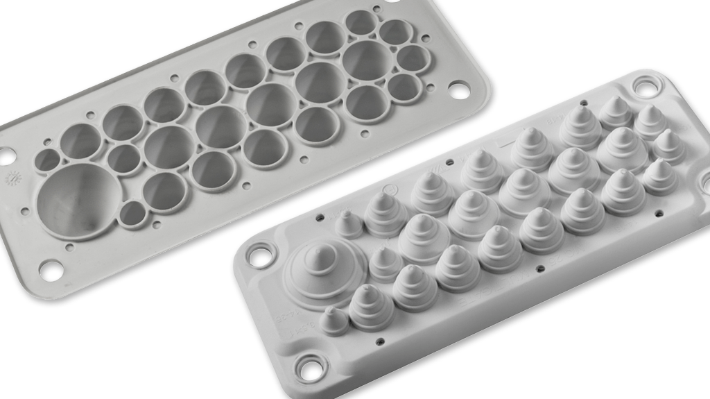 IP5455 Cable Gland Plates Trelleborg Moulded Components