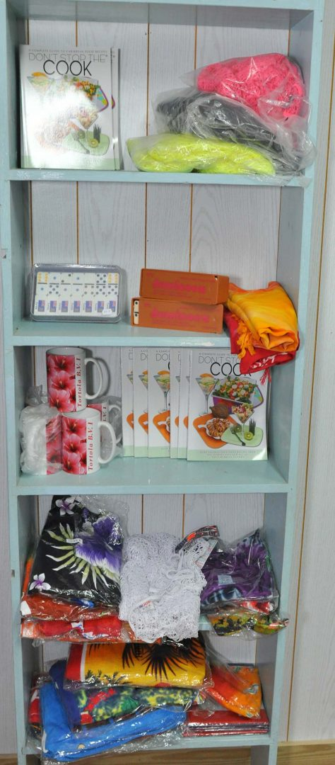 book and wrap selection at trellis gift shop tortola