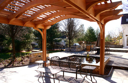 Patio Pergola With Arched Top No Ctp8 By Trellis Structures