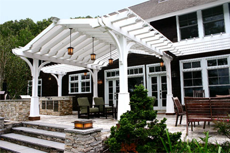 Craftsman Style Pergola With Shade Cloth No Sp9 By