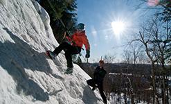 Escalade sur la glace