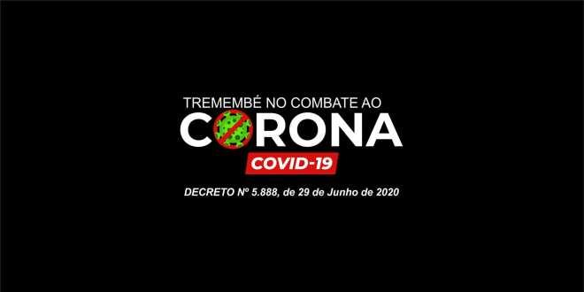 Tremembé emite novo Decreto Nº 5.888, de 29 de Junho de 2020
