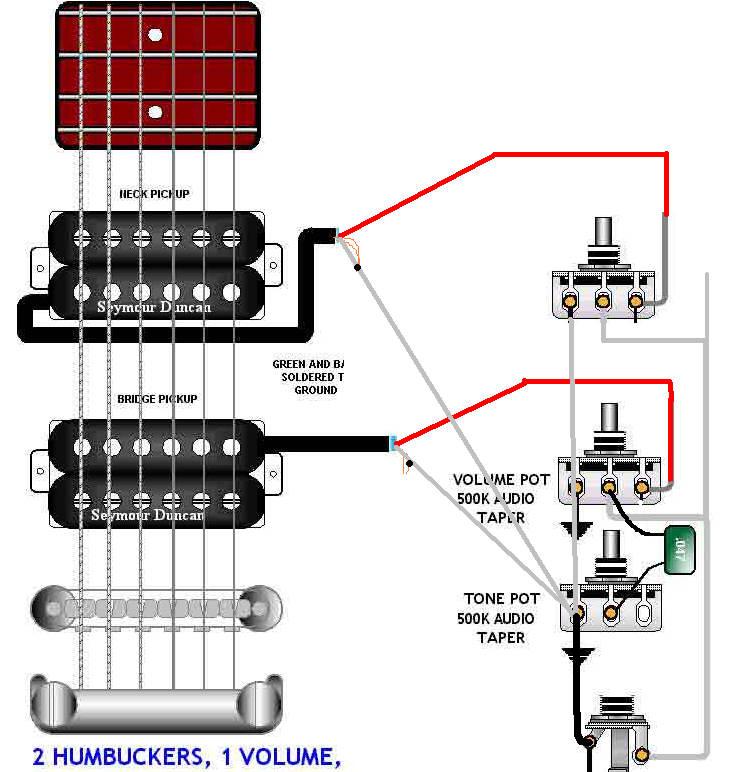 Wunderbar Gitarre Schaltplan 2 Humbucker 1 Volume 1 Ton Ideen ...