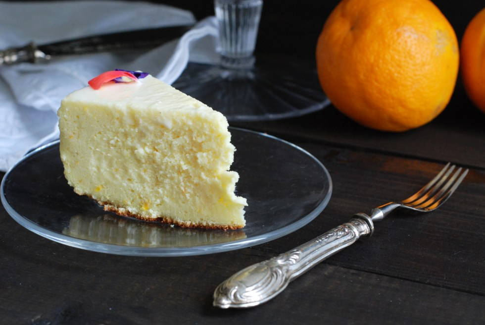 japanese cotton cheesecake all'arancia