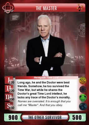 Malcolm McDowell as the Master in Doctor Who