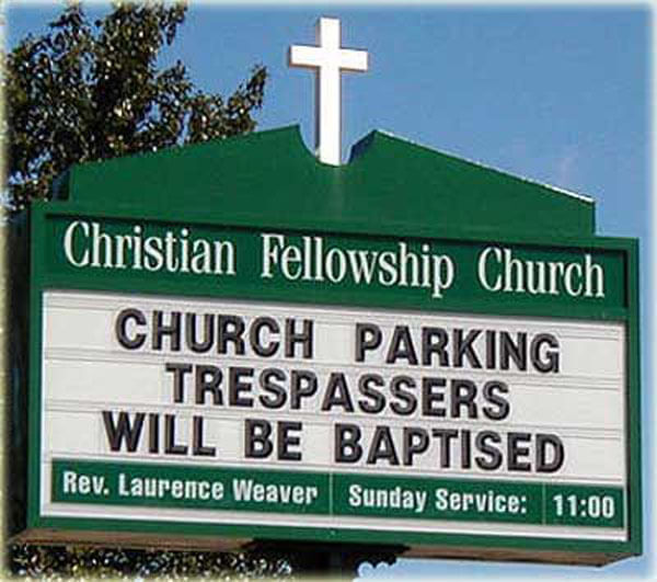 Church Parking Only?