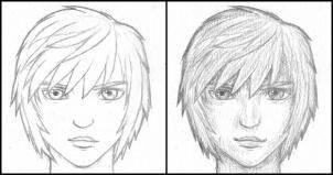 Как Рисоват Волоси аниме V Karandashe0886