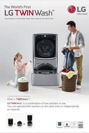 Tackle the Toughest Laundry Loads with the LG TWINWash