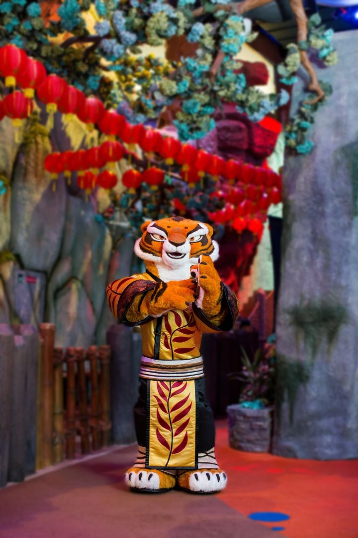Tigress from the DreamWorks franchise 'Kung Fu Panda' will make her debut at DreamPlay during the venue's Chinese New Year festivities.-
