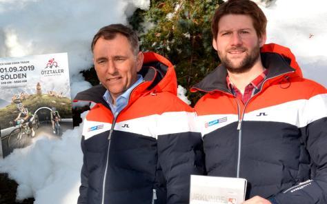 Oliver Schwarz, Geschäftsführer Ötztal-Tourismus und Dominic Kuen, Leiter Organisationskommitte Ötztaler Radmarathon