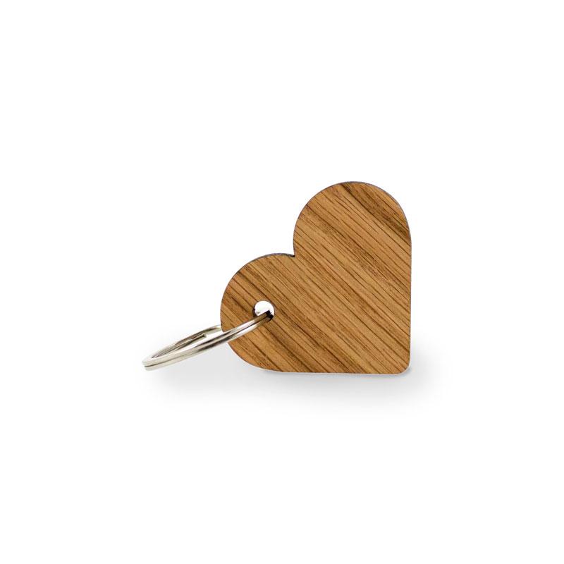 Schlüsselanhänger Herz aus Eiche