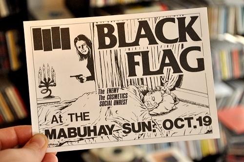 Raymond Pettibon Black Flag flyers