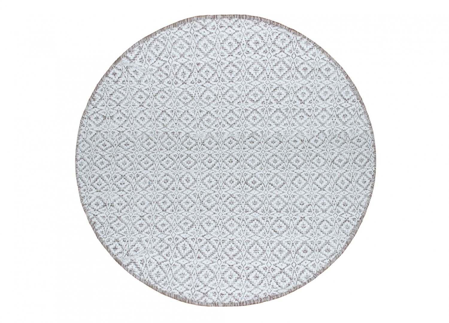 tapis rond 80 cm koster gris