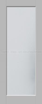 <h5>Trend 1510</h5><p>Paneeldeur uit te voeren met A1, A2, B1, B2, C1 en E1 profilering.  Keuze uit beglazingssoorten, Blank glas, Satijn glas, Blank facet geslepen glas en Satijn facet geslepen glas.</p>