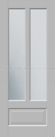<h5>Trend 2565</h5><p>Paneeldeur uit te voeren met A1, A2, B1, B2, C1 en E1 profilering.  Keuze uit beglazingssoorten, Blank glas, Satijn glas, Blank facet geslepen glas en Satijn facet geslepen glas.</p>
