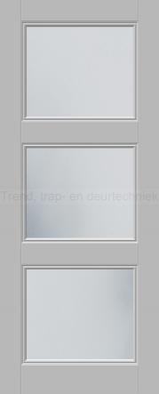 <h5>Trend E560</h5><p>Paneeldeur uit te voeren met E1 profilering.  Keuze uit beglazingssoorten, Blank glas, Satijn glas, Blank facet geslepen glas en Satijn facet geslepen glas.</p>