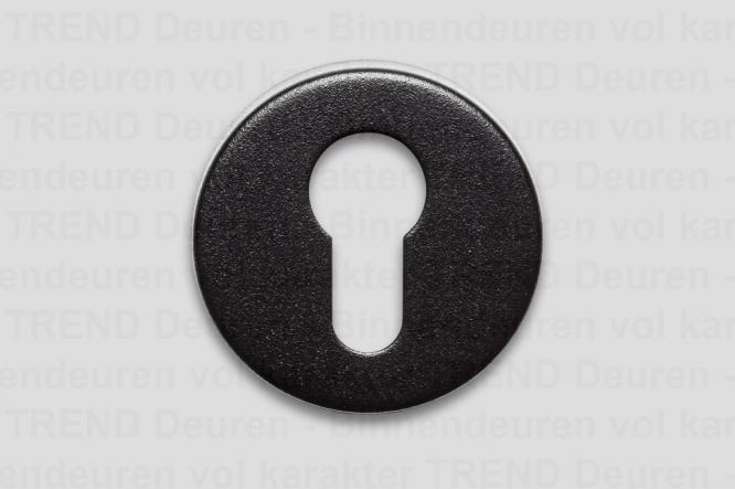 <h5>TREND 221 BLACK</h5><p>BLACK cilinderrozet gemonteerd d.m.v. stalen rozet. Zwarte coating met fijne structuur. Afgewerkt met klik rozet. Industriële uitstraling en oerdegelijk. Materiaal RVS.</p>