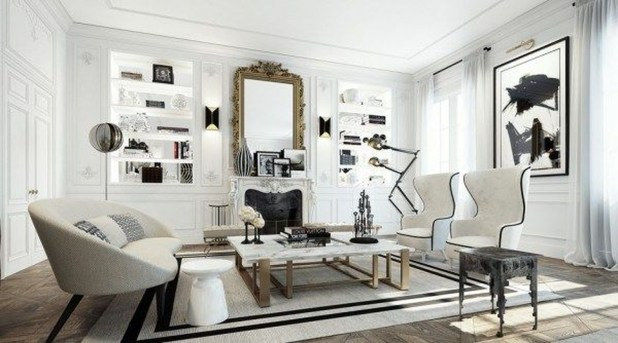 A Beautiful All White Apartment In Modern Style 11