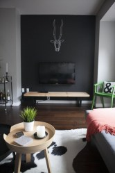 Best Living Room Ideas With Black Walls 19