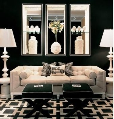 Best Living Room Ideas With Black Walls 34