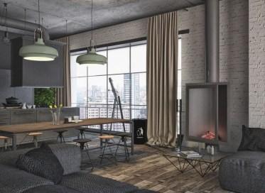 Minimalist Industrial Apartment 27