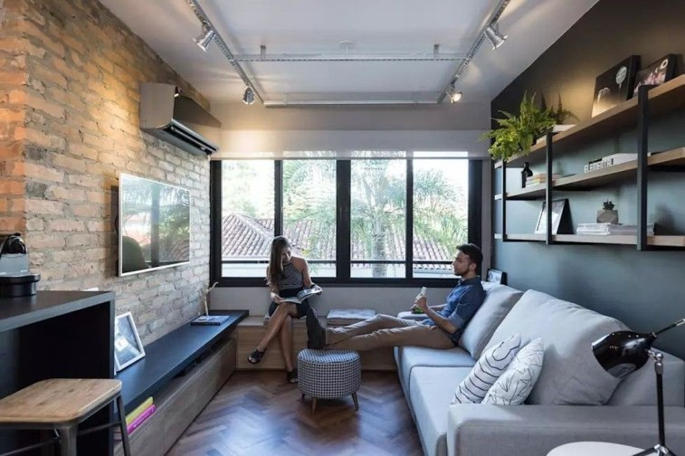 Minimalist Industrial Apartment 34