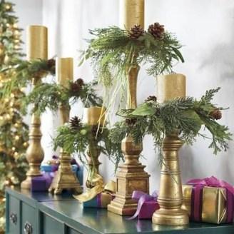 Charming Christmas Candle Decor Ideas 18