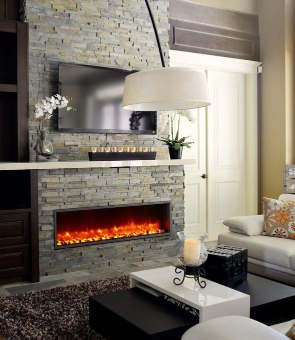 Comfy Winter Living Room Ideas With Fireplace 15