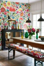 Awesome Bohemian Dining Room Design And Decor Ideas 16