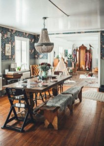 Awesome Bohemian Dining Room Design And Decor Ideas 45