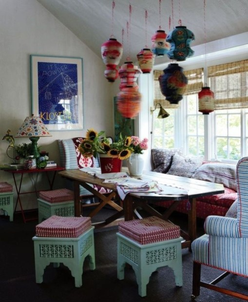 Awesome Bohemian Dining Room Design And Decor Ideas 52