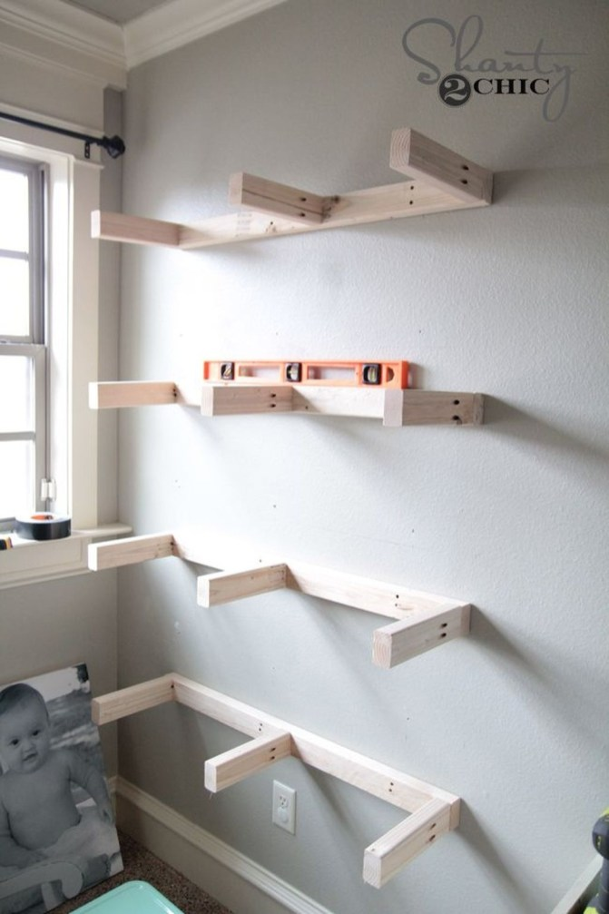 Inspiring Diy Wood Shelves Ideas On A Budget 32
