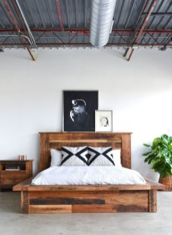 Lovely Diy Wooden Platform Bed Design Ideas 02