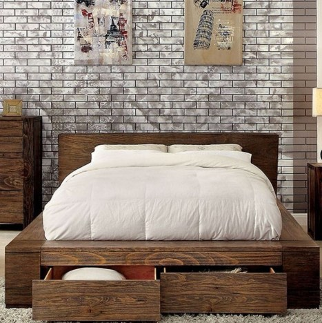 Lovely Diy Wooden Platform Bed Design Ideas 30